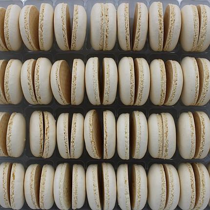 Макаронс напівфабрикат кришечки половинки білі, фото 2