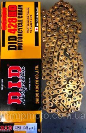 Цепь 428H-136L  gold     D.I.D.  качество