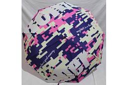 Жіночий напівавтомат зонт складаний Антиветер 3 складання з принтом MARIO UMBRELLA