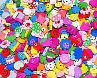 Заготовка для Бизиборда Фигурка 2 см МИКС ВИДОВ Украшение Декор Деталі для Бізіборда мишка бабочка цветочек, фото 1