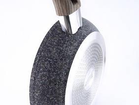 Сковорідка Benson з сіро-біло-чорним гранітним покриттям 28 см, фото 3