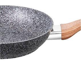Сковорідка Benson з сіро-біло-чорним гранітним покриттям 28 см, фото 2