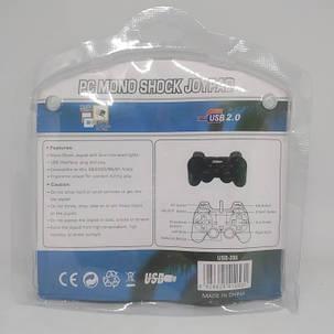 USB джойстик для ПК PC GamePad DualShock вибро DJ-208 игровой джойстик для компьютера, фото 2