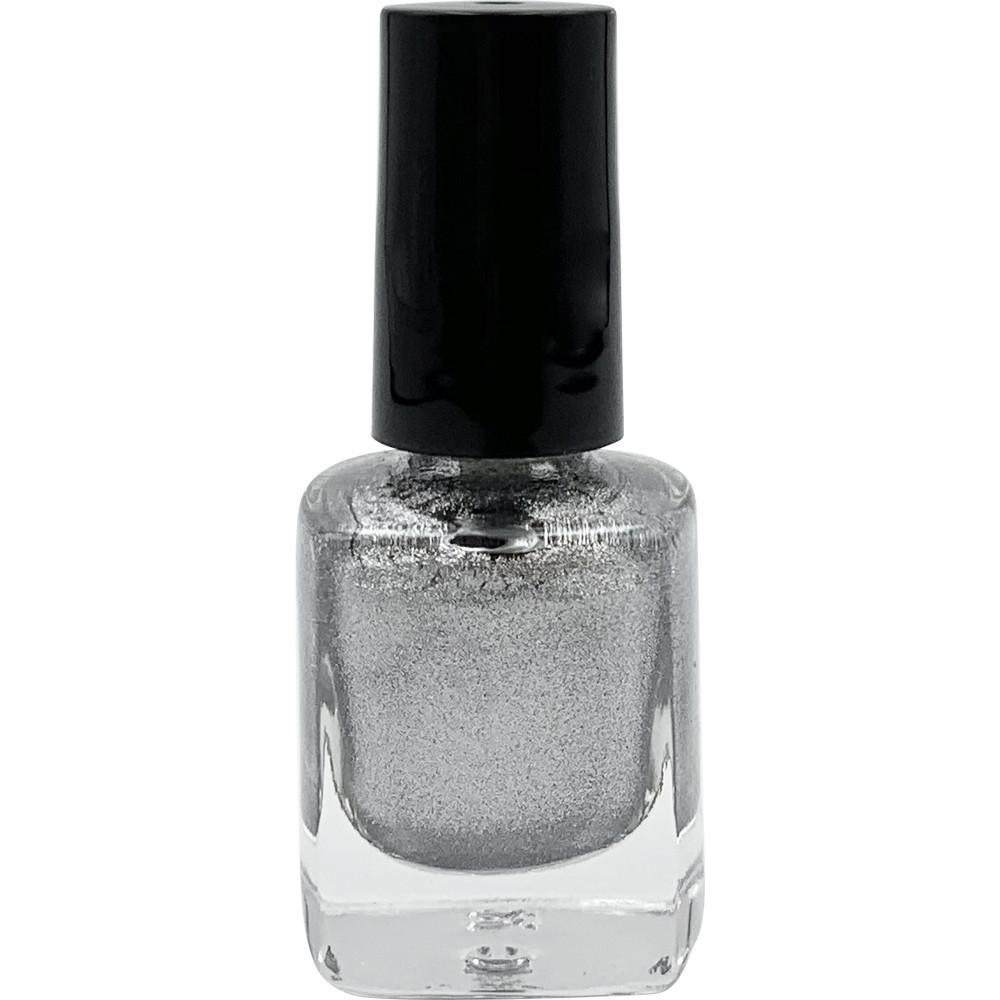 Лак-краска маникюрная для стемпинга на ногтях серебро