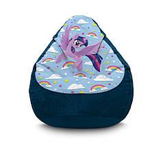 """Крісло мішок """"My Little Pony. Twilight Sparkle and rainbow"""" Флок"""