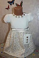 Платье+повязочка на голову 1,2,3, года