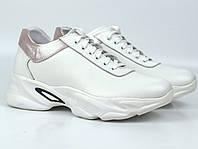 Кроссовки кожаные летние белые женская обувь больших размеров Rosso Avangard Mozza White&Cream
