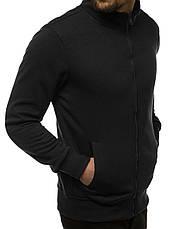 Мужская спортивная кофта - толстовка черная, фото 3