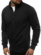 Мужская спортивная кофта - толстовка черная, фото 2
