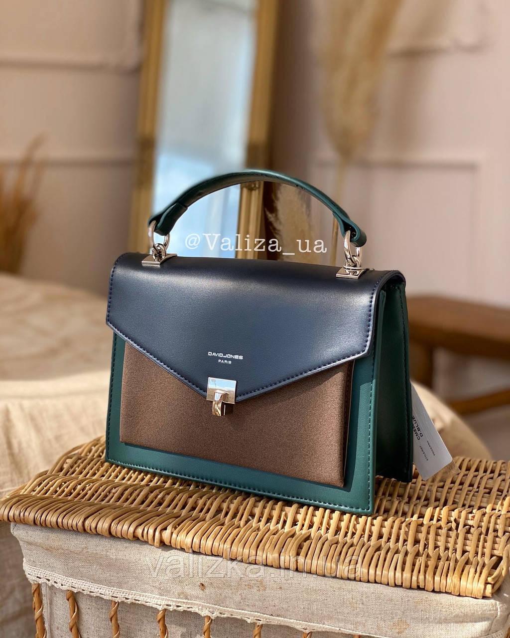 Якісна жіноча сумка від David Jones 5663