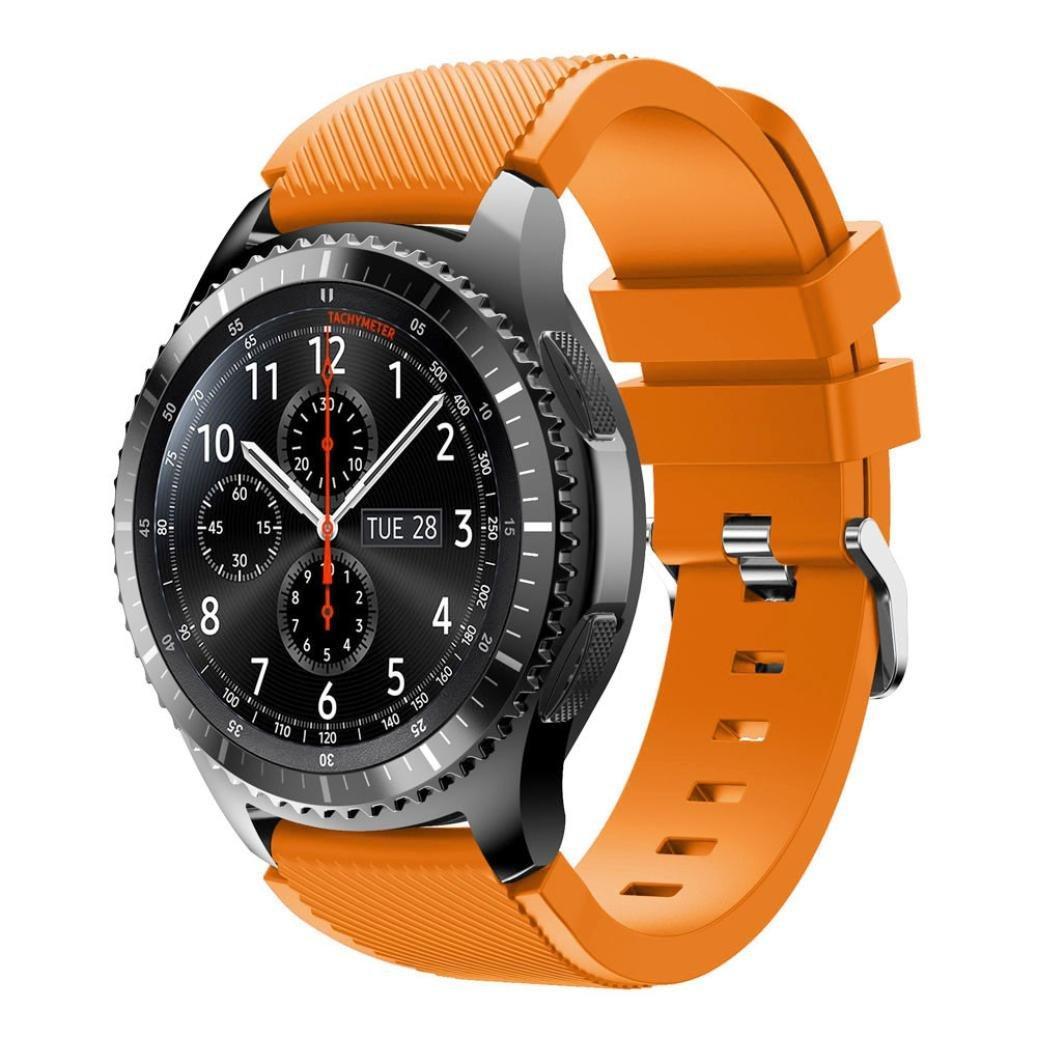 Ремешок для Samsung Galaxy Watch 3 45 mm силиконовый 22 мм ECO Оранжевый BeWatch (1021107)