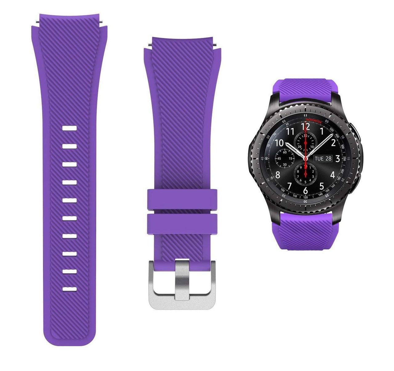 Ремешок для Samsung Galaxy Watch 3 45 mm силиконовый 22 мм ECO Фиолетовый BeWatch (1021113)
