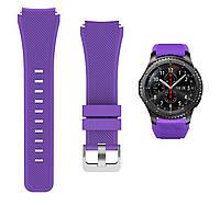 Ремешок для Samsung Galaxy Watch 3 45 mm силиконовый 22 мм ECO Фиолетовый BeWatch (1021113), фото 1