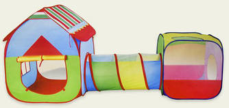 Детская игровая палатка домик с тоннелем 3 в 1 (Т011-10В)