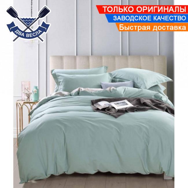 Комплект постельного белья двуспальный Евро размер хлопок 100% сатин В-0213 + подарочные коробка и пакет