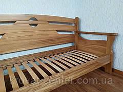 """Диван - ліжко з масиву дуба з суцільним підставою """"Луї Дюпон - 2"""", фото 3"""