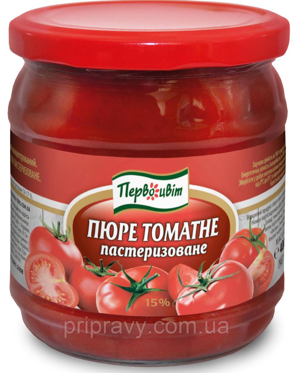 Пюре томатное пастеризованное 15% ТМ Смачна кухня, 400 г