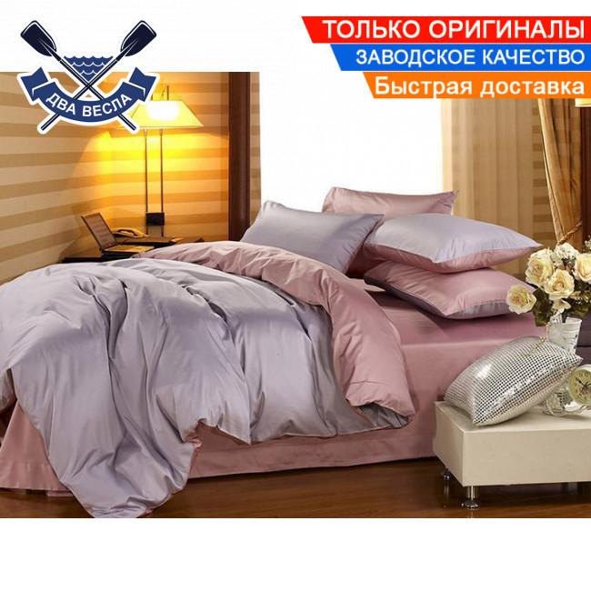 Комплект постельного белья полуторный размер хлопок 100% сатин В-0058 + подарочные коробка и пакет