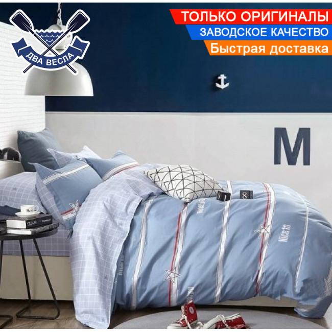 Комплект постельного белья полуторный размер хлопок 100% сатин В-0187 + подарочные коробка и пакет