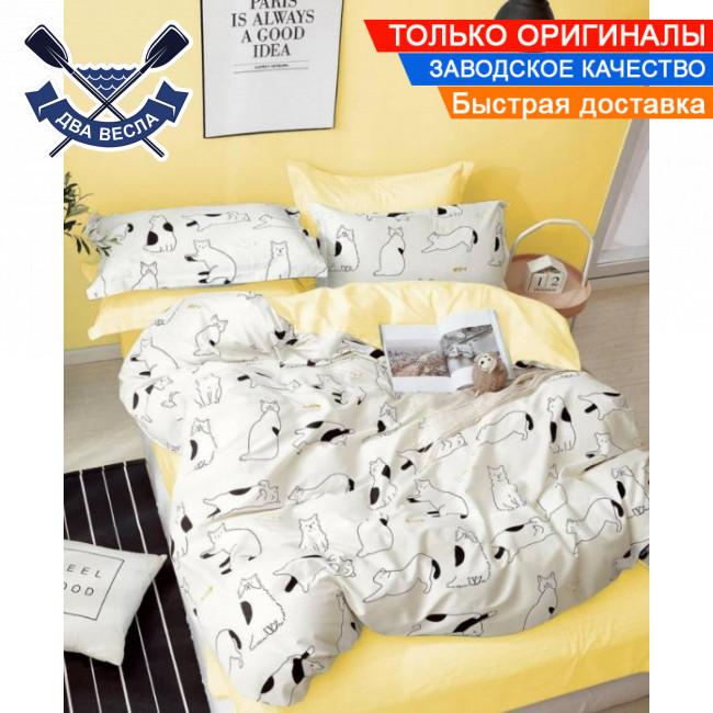 Комплект постельного белья полуторный размер хлопок 100% сатин В-0255 + подарочные коробка и пакет