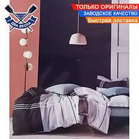 Комплект постельного белья двуспальный Евро размер хлопок 100% фланель плотный микросатин (зима осень)