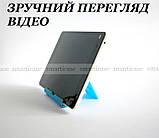 Синяя регулируемая подставка для планшета, смартфона, электронной книги, фото 2