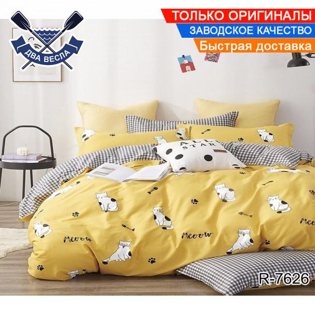Комплект постельного белья двуспальный Евро размер хлопок 100% бязь TiroTex R7626 Sunny Cat