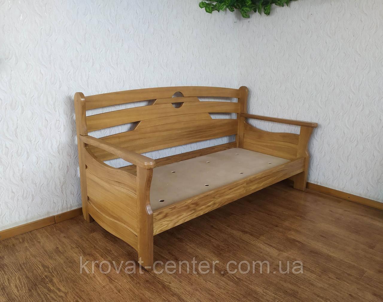 """Диван - ліжко з масиву дуба з суцільним підставою """"Луї Дюпон - 2"""""""