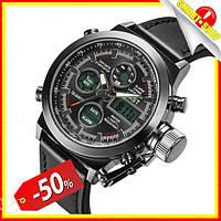 Армейские наручные часы неубиваемые AMST Watch black Мужские военные часы водонепроницаемые АМСТ вотч