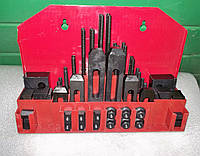 Комплект прихватов для столов фрезерных станков под паз 10мм (М8)
