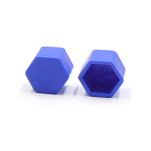 Защитные силиконовые колпачки на колесные гайки 19 мм синие