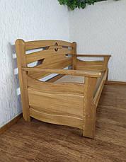 """Диван - ліжко з масиву дуба з суцільним підставою """"Луї Дюпон - 2"""", фото 2"""