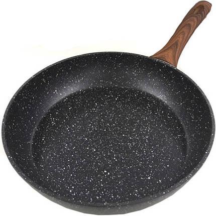 Сковородка Benson из кованного алюминия с мраморным покрытием 26 см, фото 2