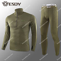 Термобелье Мужское Флисовое ESDY Pro Olive ( комплект термобелья )