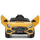 Детский электромобиль машина Mercedes Benz M 4062EBLR-6 желтый, фото 3