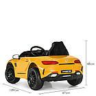 Детский электромобиль машина Mercedes Benz M 4062EBLR-6 желтый, фото 4