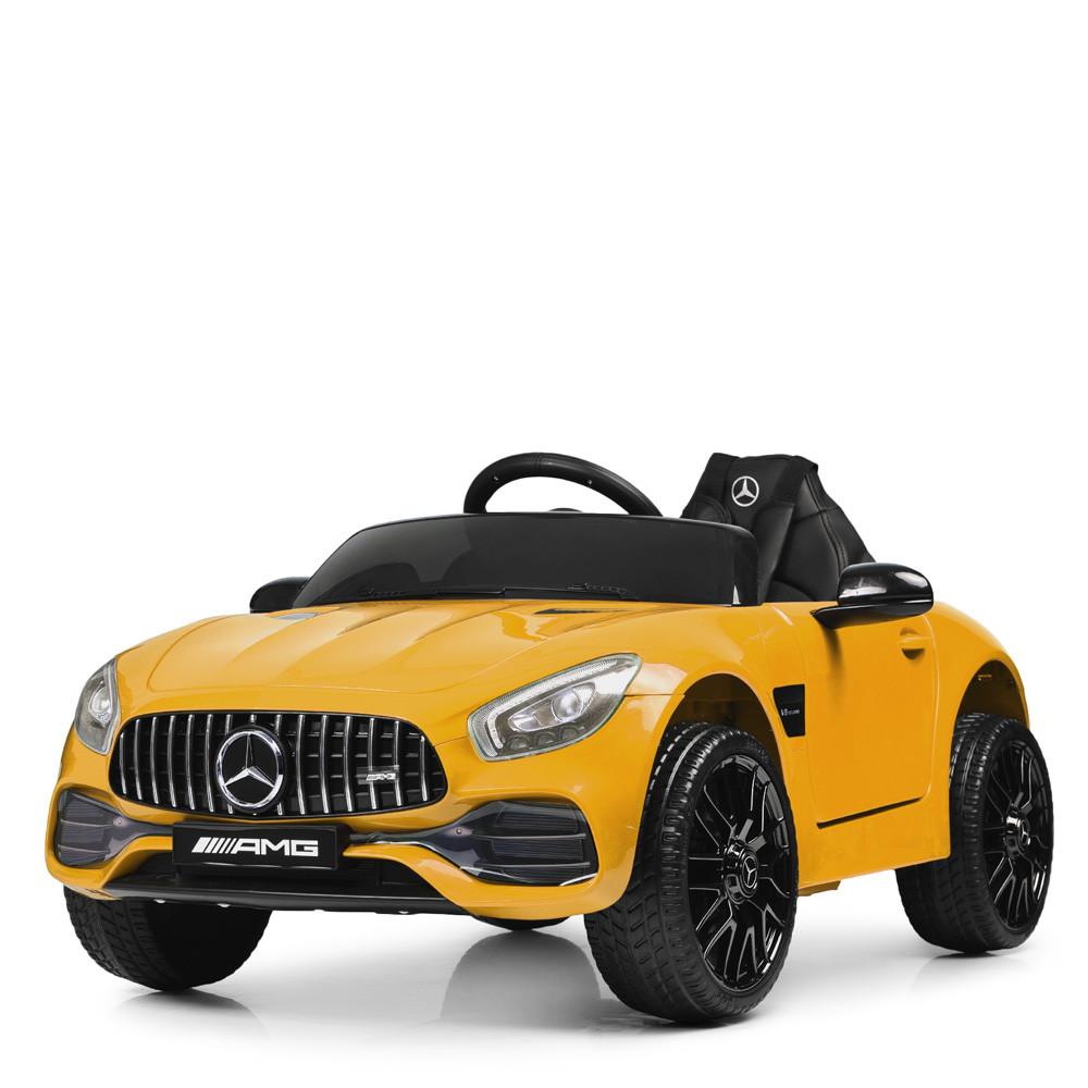Детский электромобиль машина Mercedes Benz M 4062EBLR-6 желтый