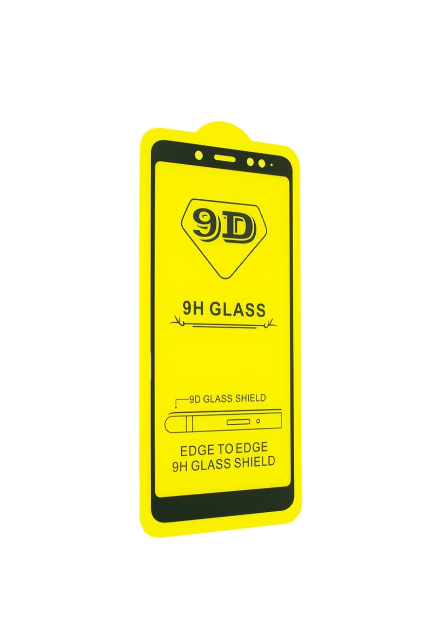 Защитное стекло 9D Xiaomi redmi note 5 / 5 Pro полная проклейка 9H Цвет рамки Чёрный