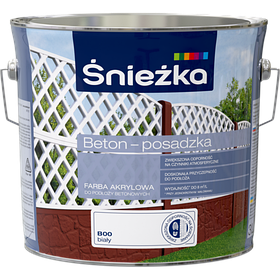 Краска по бетону Sniezka BETON-POSADZKA БЕЛЫЙ В00 3л PL