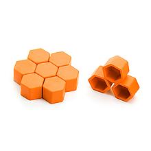 Защитные силиконовые колпачки на колесные гайки 17 мм оранжевые