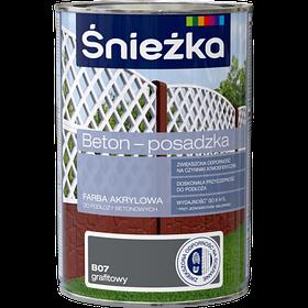 Краска для бетонных оснований Sniezka BETON-POSADZKA ГРАФИТ В07 1л PL