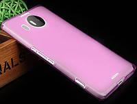 Чохол накладка для Microsoft Lumia 950 XL рожевий, фото 1