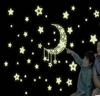 Декоративная наклейка стикер Звезды светятся в темноте (40х35см)