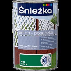 Краска для бетонных оснований Sniezka BETON-POSADZKA ЗЕЛЕНЫЙ В05 1л PL