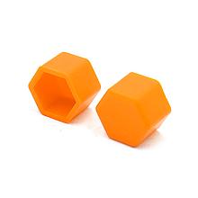 Защитные силиконовые колпачки на колесные гайки 19 мм оранжевые