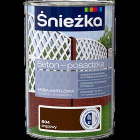 Краска для бетонных оснований Sniezka BETON-POSADZKA КОРИЧНЕВЫЙ В04 1л PL