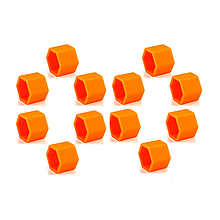 Защитные силиконовые колпачки на колесные гайки 21 мм оранжевые