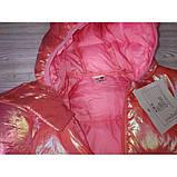 Курточка деми малиновая Рост: 80-120 см, фото 2