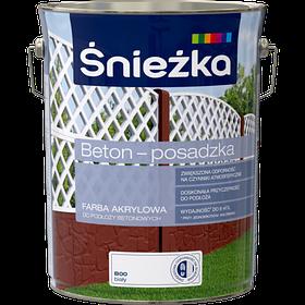 Краска для бетонных оснований Sniezka BETON-POSADZKA БЕЛЫЙ В00 5л