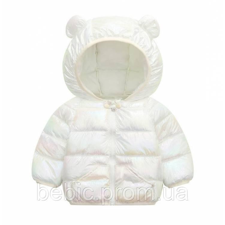 Курточка деми белая Рост: 120 см